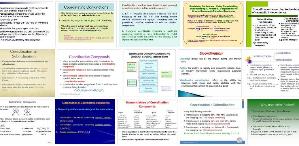 Coordinative Capacities